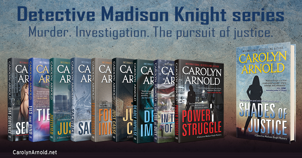 "Detective Madison Knight is ""one of the best female cops that I've ever read"""