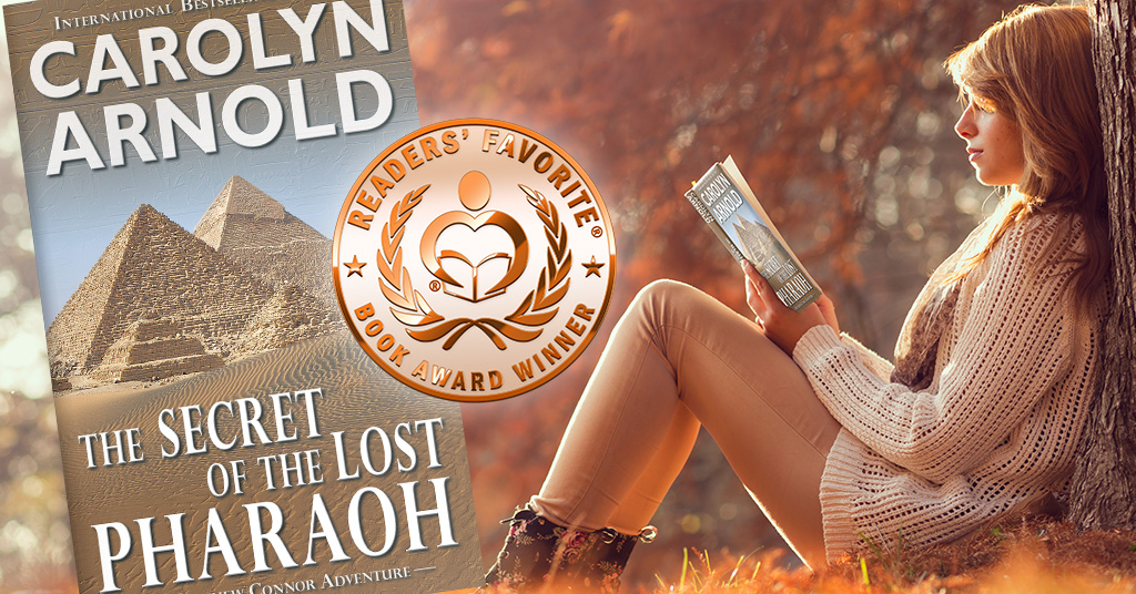 The Secret of the Lost Pharaoh takes Readers' Favorite Bronze Medal for Adventure!