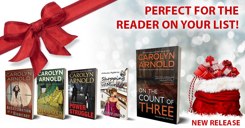 Stuff your stockings with suspense this year! #stockingstuffers