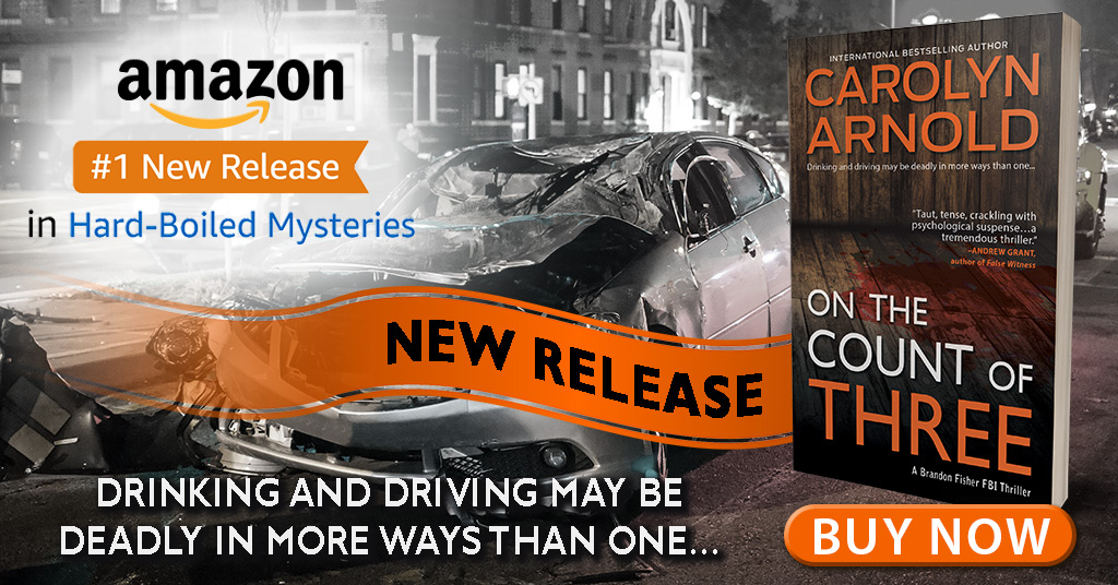 On the Count of Three  hits Amazon's #1 New Release in Hard-Boiled Mysteries!