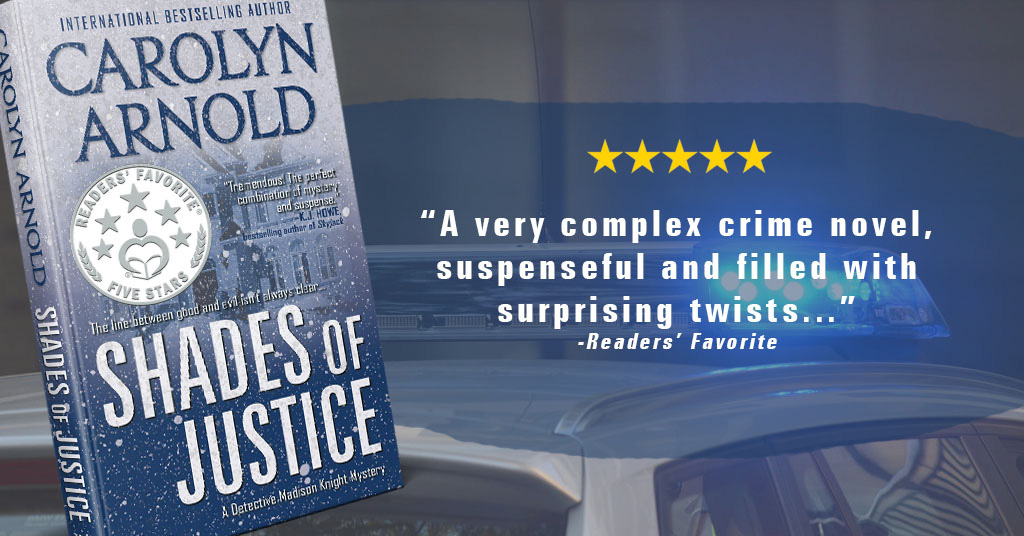 Readers' Favorite Gives Shades of Justice (Detective Madison Knight) ★★★★★