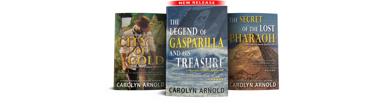 Mathew Connor Adventure Series first three book covers